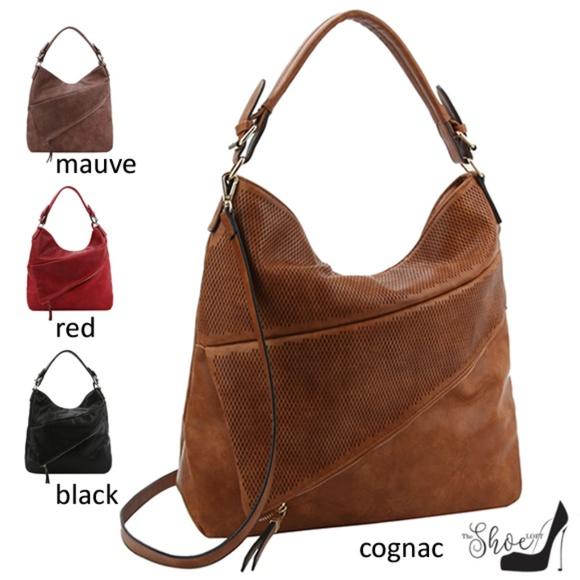 My Bag Lady Online Handbags - Hobo Handbag w Asymmetrical Zippered Compartment